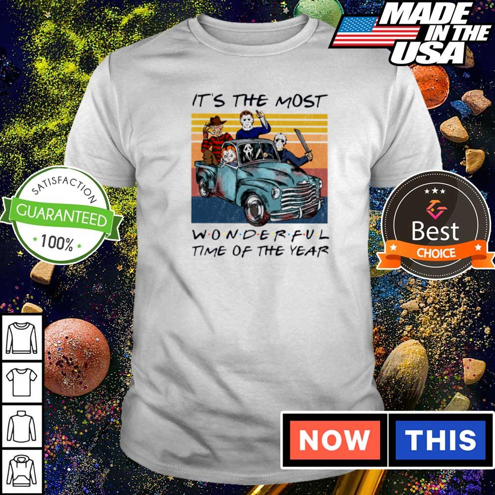 Horror character it's the most wonderful time of the year shirt