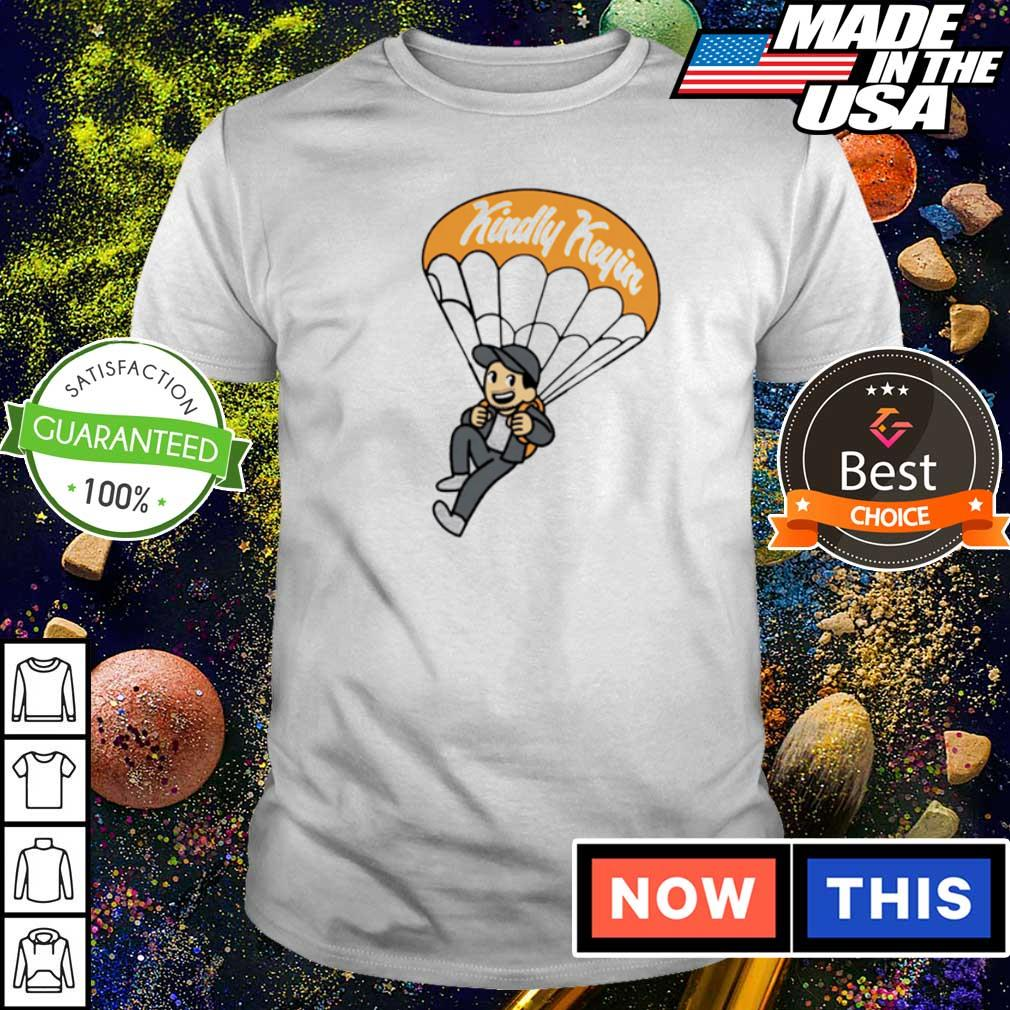 Kindly Keyin flying in parachute shirt