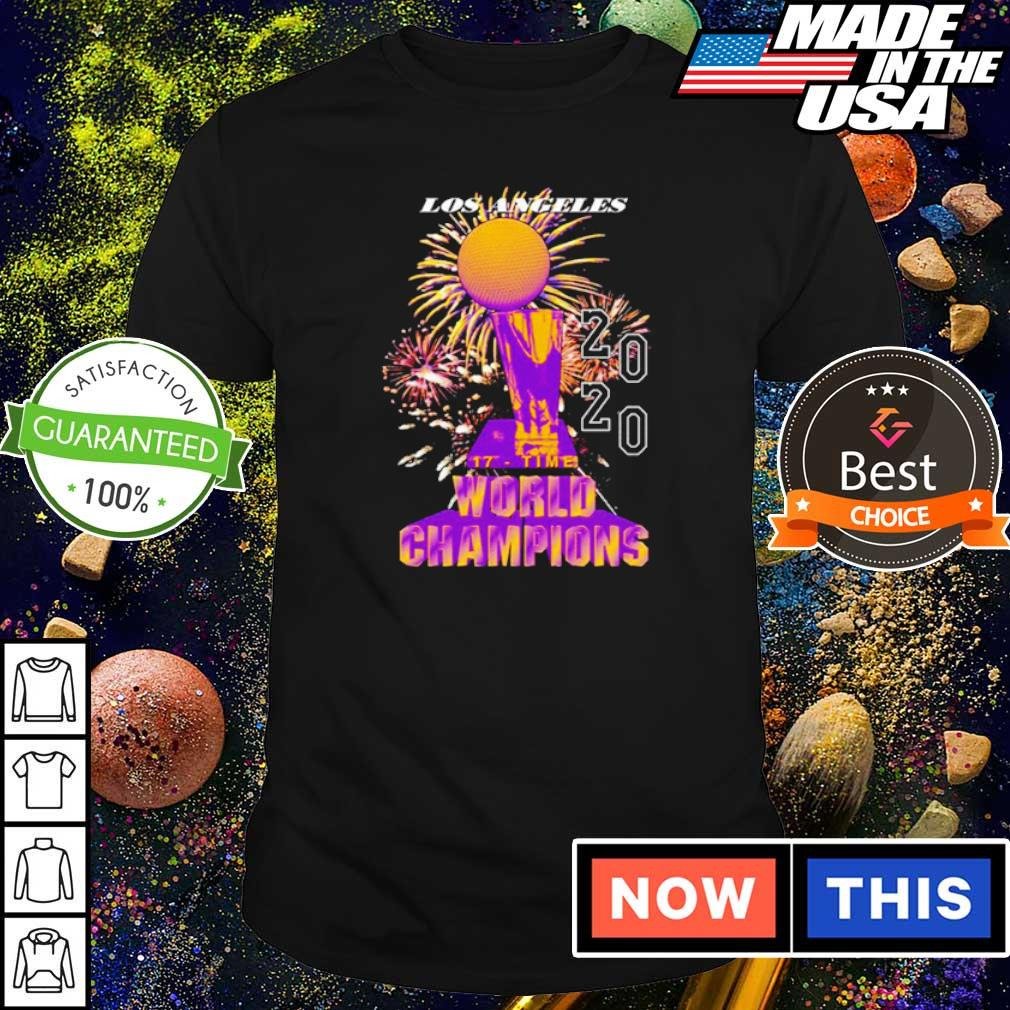 Los Angeles Lakers 17 time world champions 2020 shirt