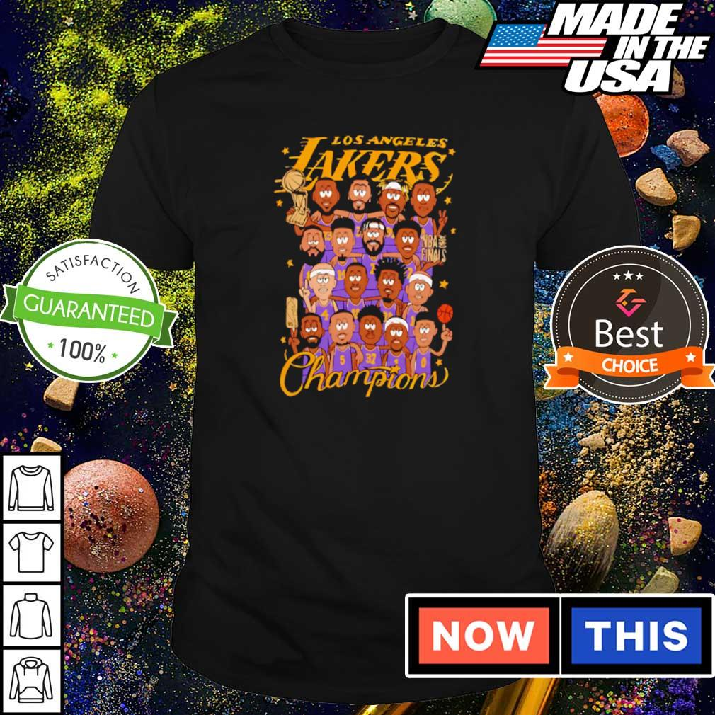 Los Angeles Lakers chibi players champions shirt