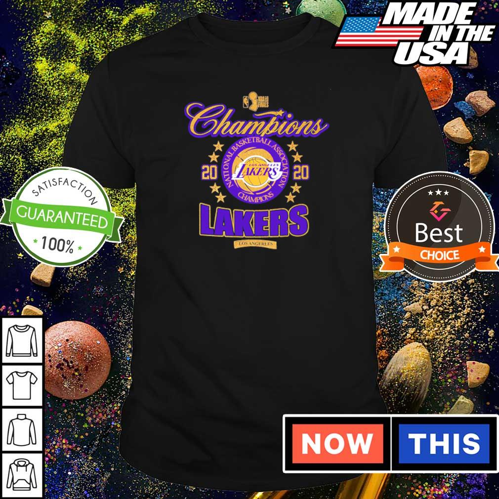 Los Angeles Lakers national basketball association champions 2020 shirt