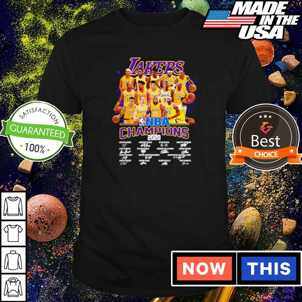 Los Angeles Lakers NBA champions 2020 player's signature shirt
