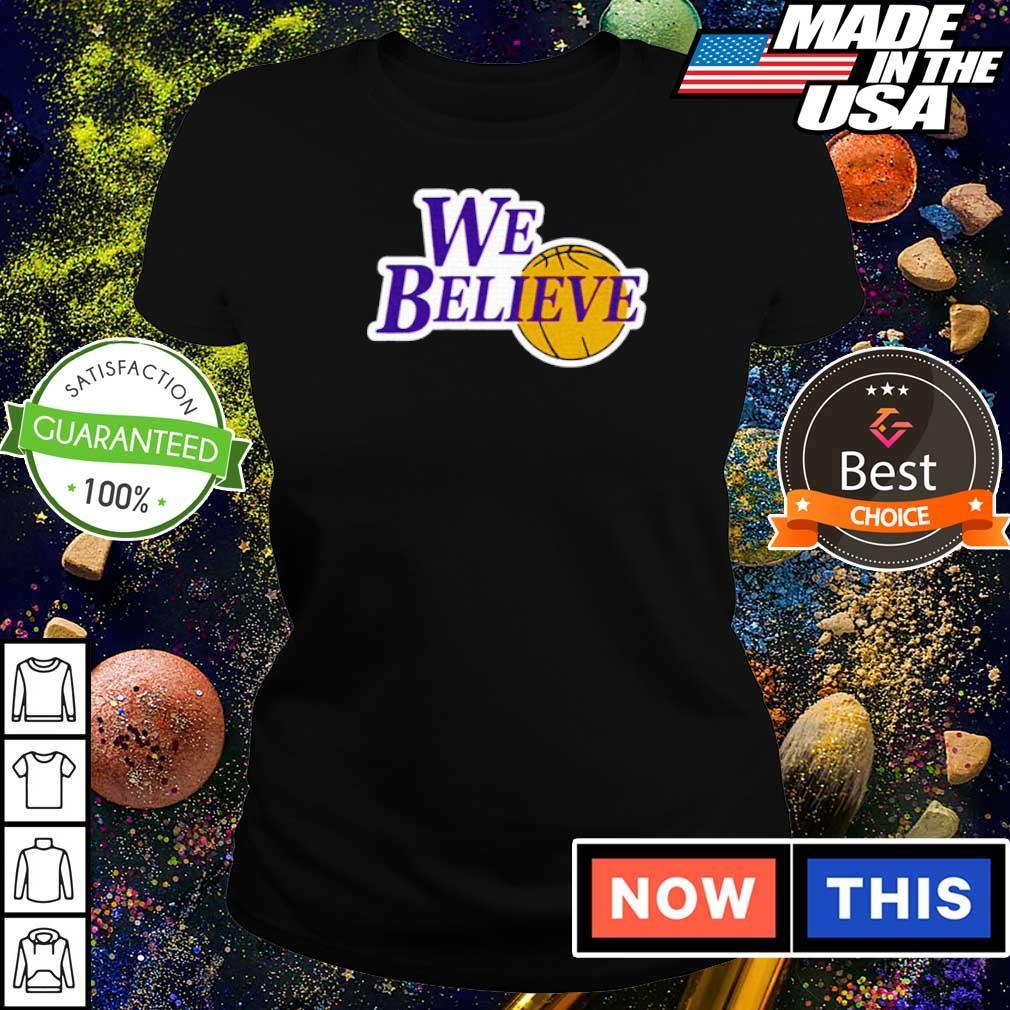 Los Angeles Lakers we believe s ladies tee