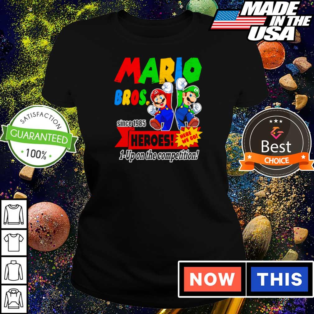 Mario bros since 1985 heroes up on the competition s ladies tee