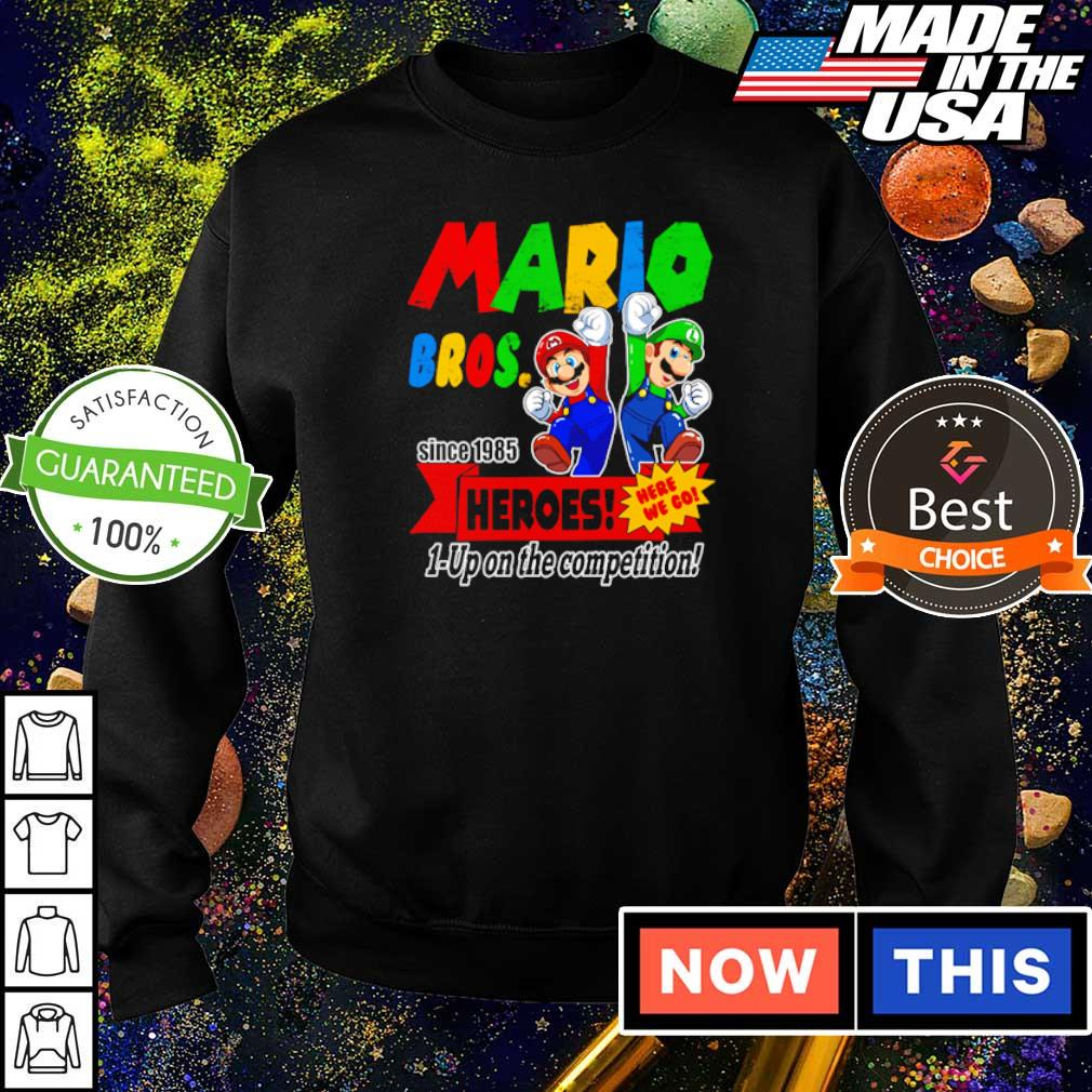 Mario bros since 1985 heroes up on the competition s sweater