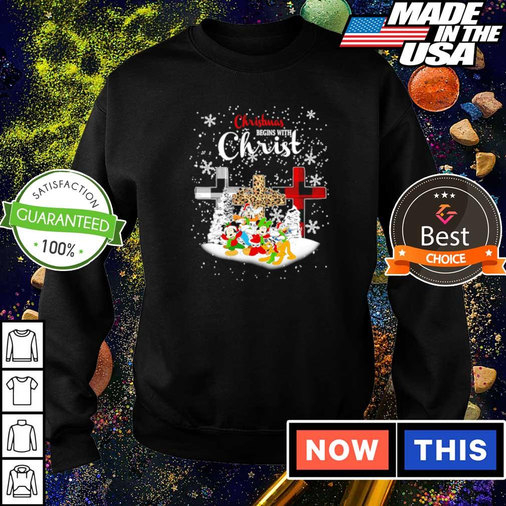 Mickey Mouse and friends Christmas begins with Christ s sweater