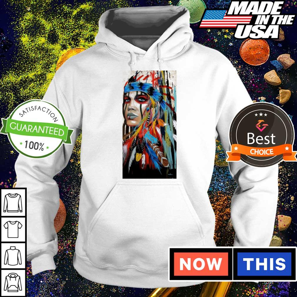 Native American Girl graffiti art s hoodie
