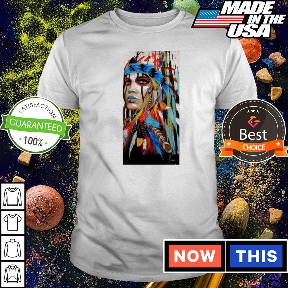 Native American Girl graffiti art shirt