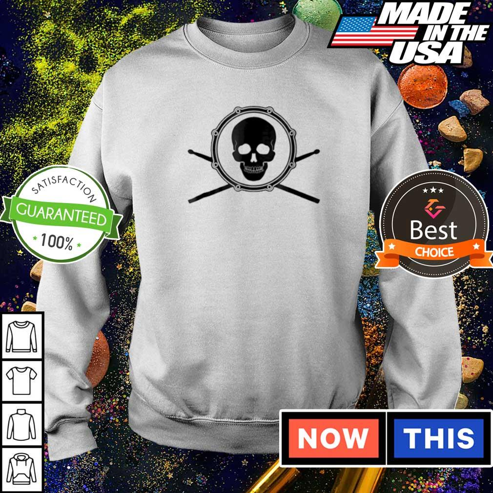 Skull and drumsticks drummer s sweater