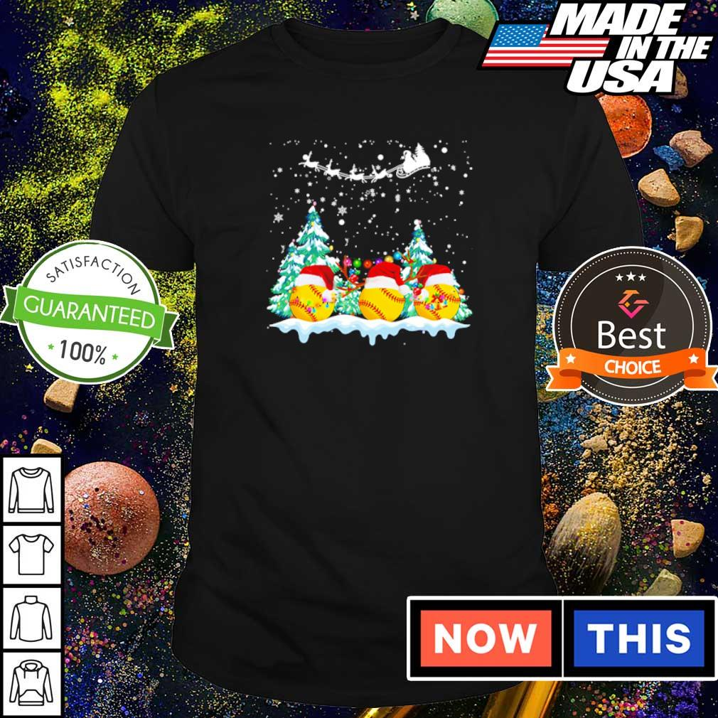 Softball merry Christmas shirt