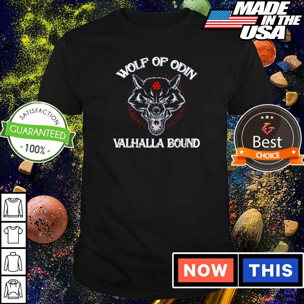 Viking wolf of Odin Valhalla bound shirt