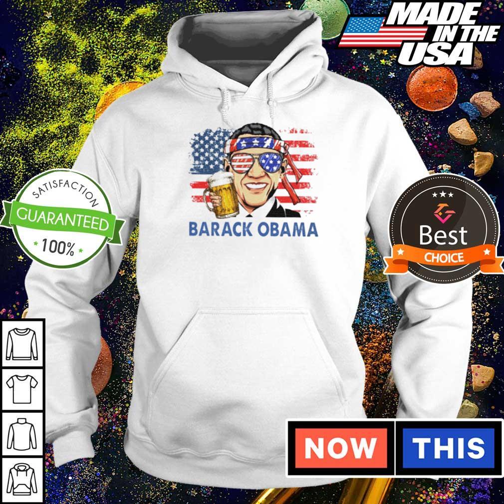 American Flag Barack Obama drinking beer s hoodie