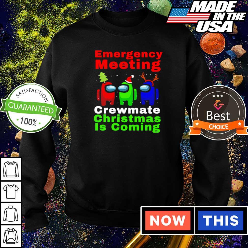Among us emergency meeting crewmate Christmas is coming sweater