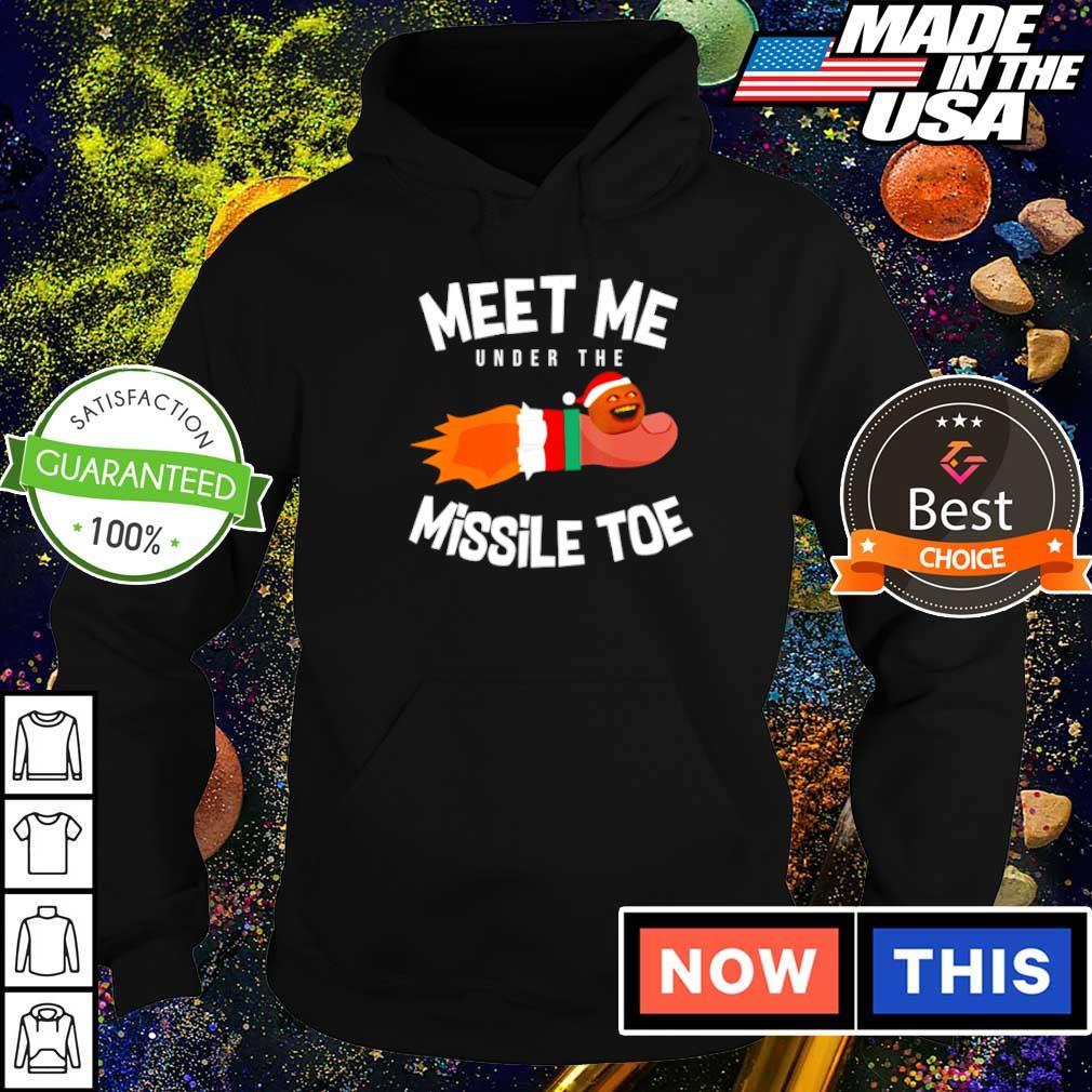 Annoying orange meet me under the missile toe Christmas sweater hoodie