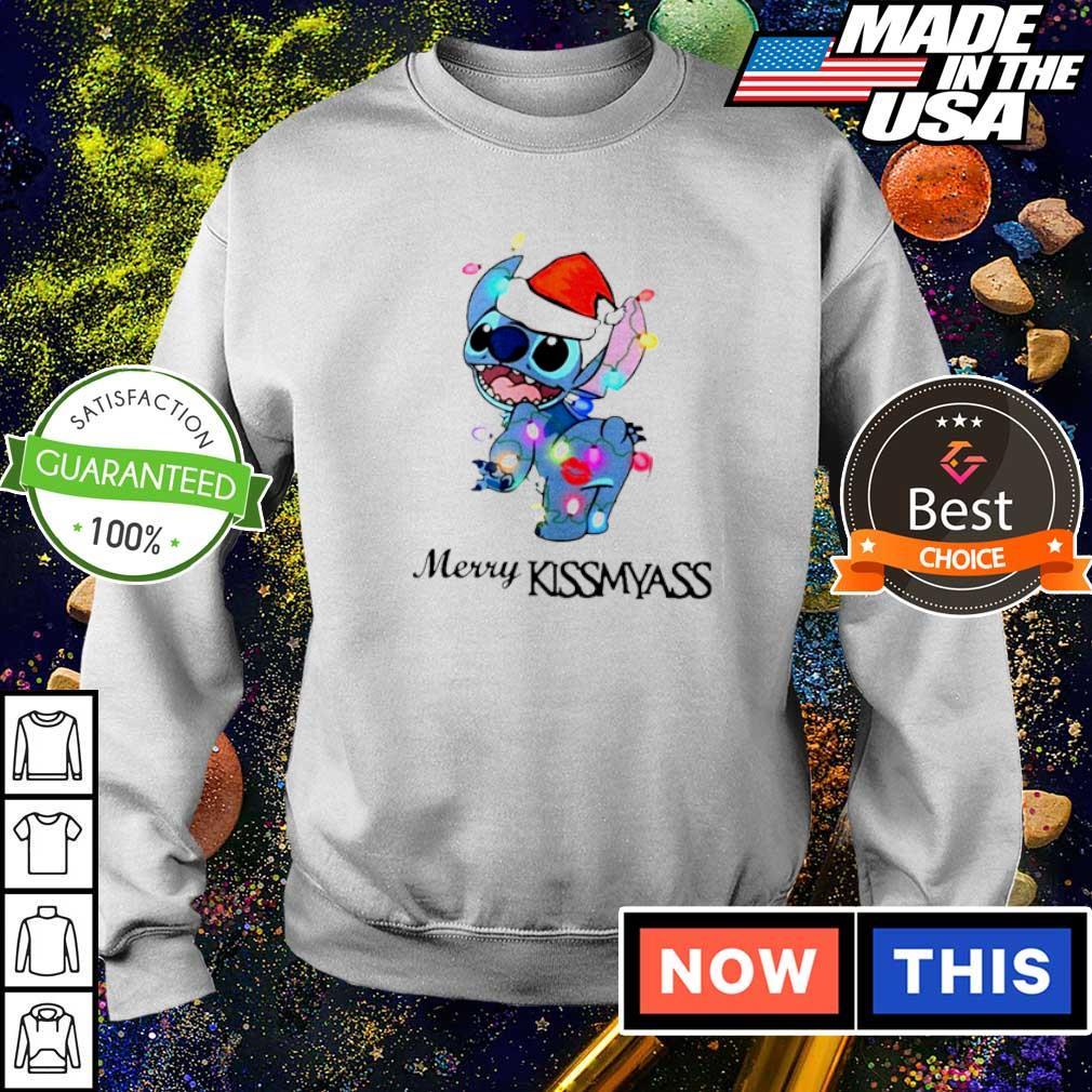Awesome Stitch merry kissmyass Christmas sweater