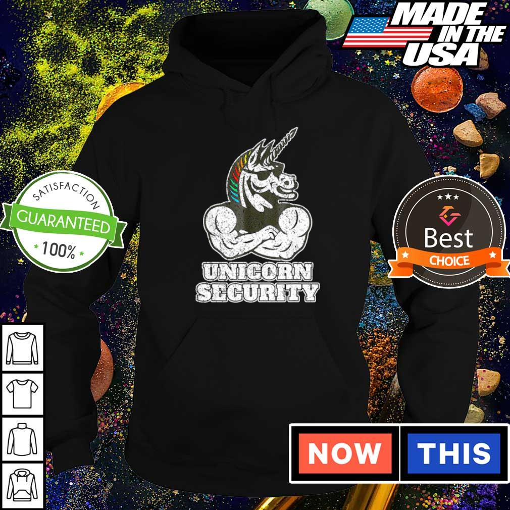 Awesome unicorn security muscular s hoodie