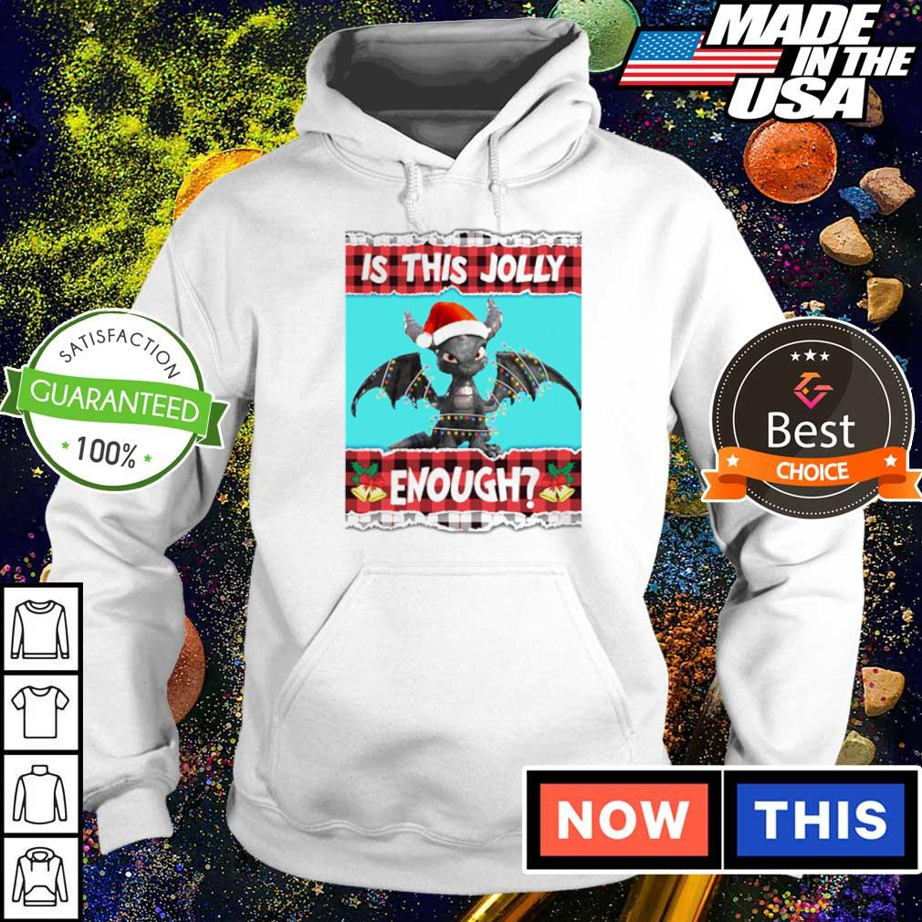 Baby dragon is this jolly enough merry Christmas sweater hoodie
