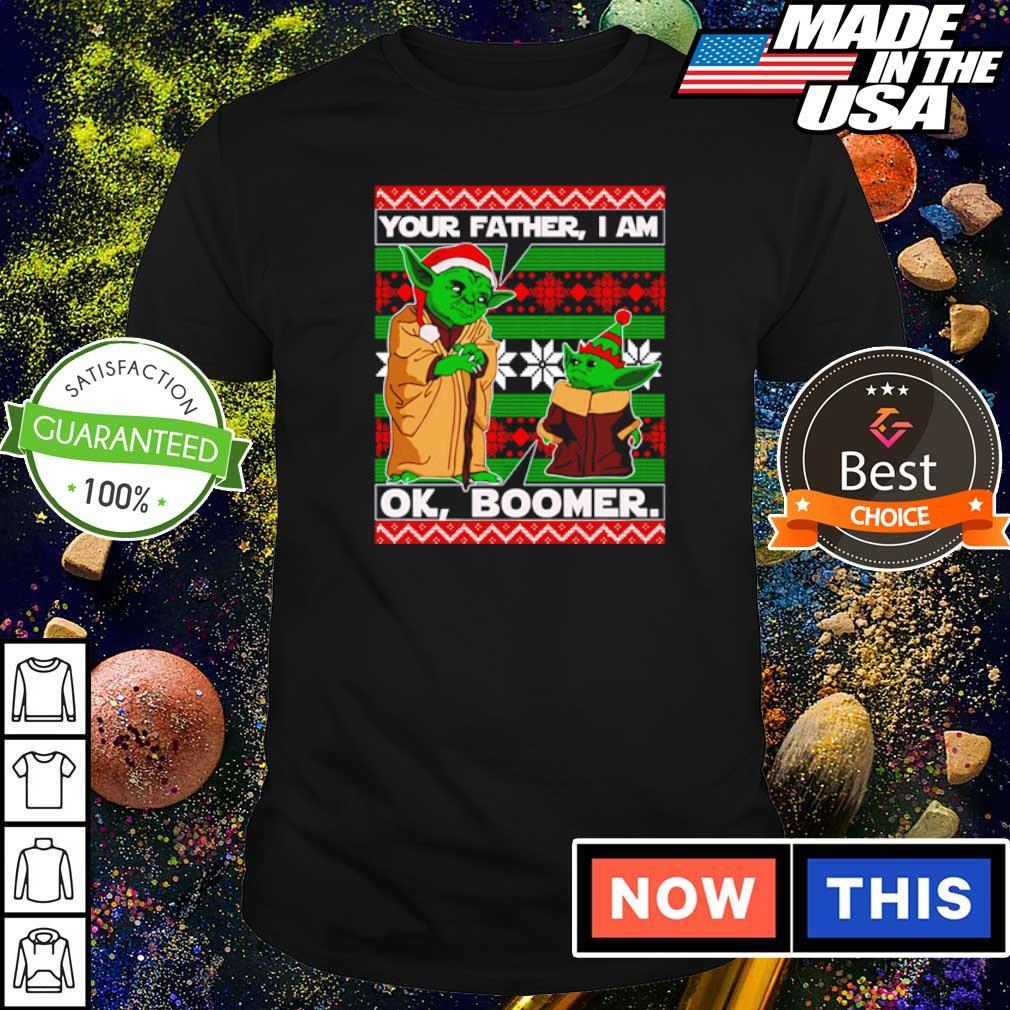 Baby Yoda your father I am ok boomer Christmas sweater shirt
