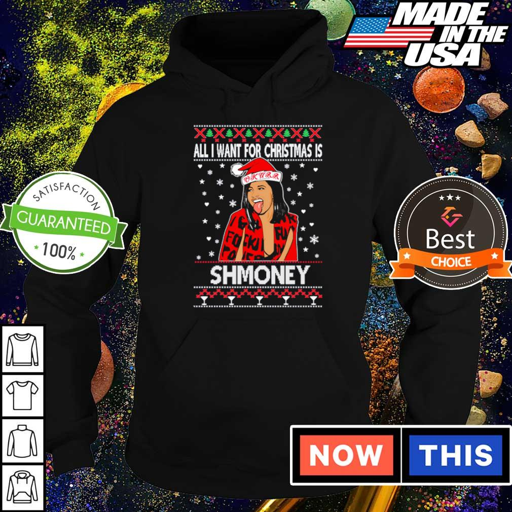 Cardi B all I want for Christmas is shmoney sweater hoodie