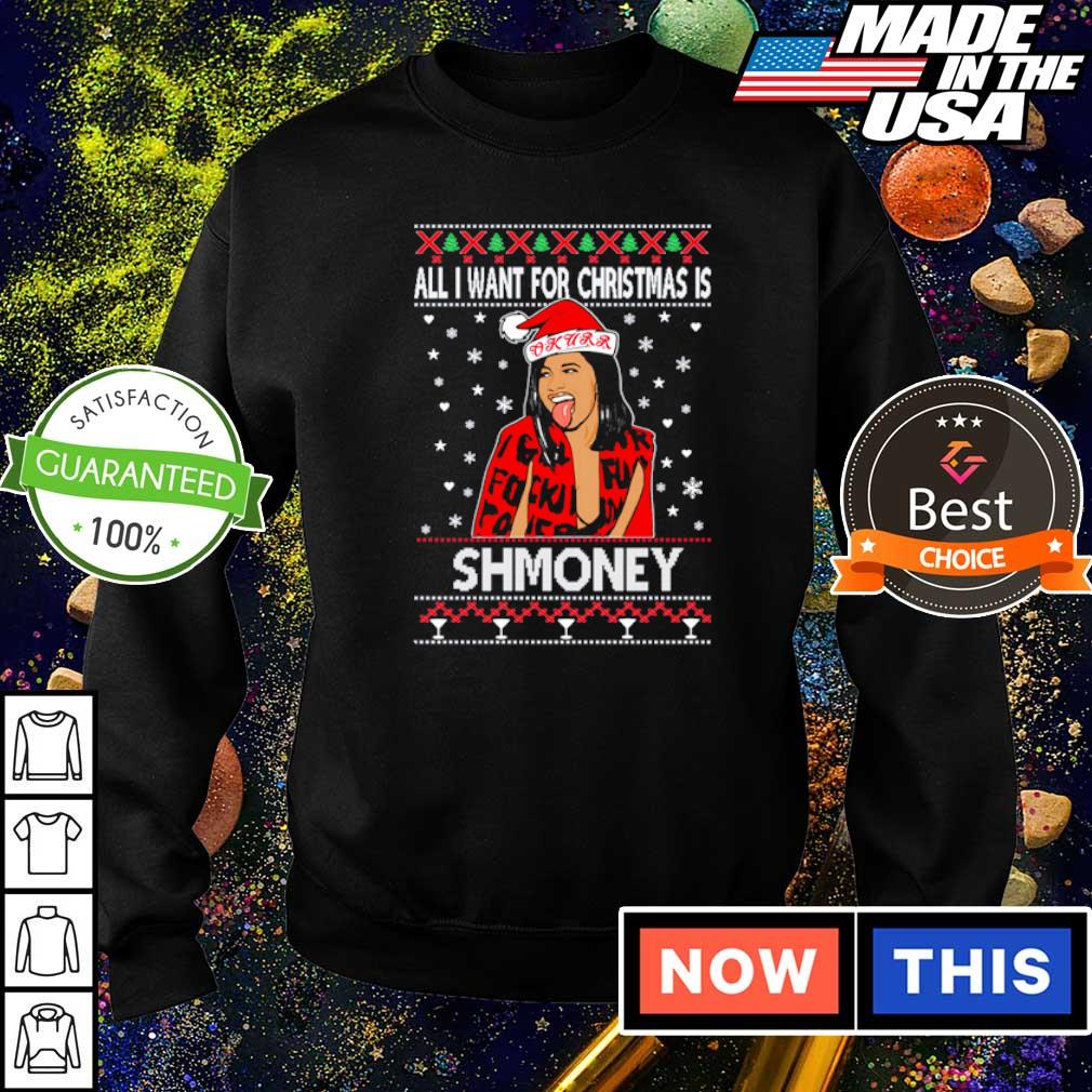 Cardi B all I want for Christmas is shmoney sweater