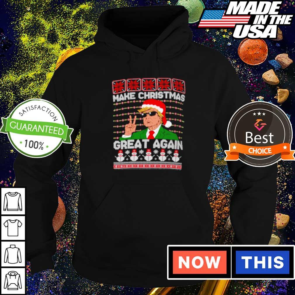 Cool Donald Trump make Christmas great again sweater hoodie