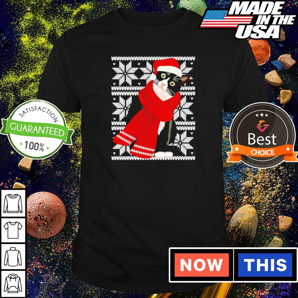 Crazy black cat merry Christmas sweater shirt