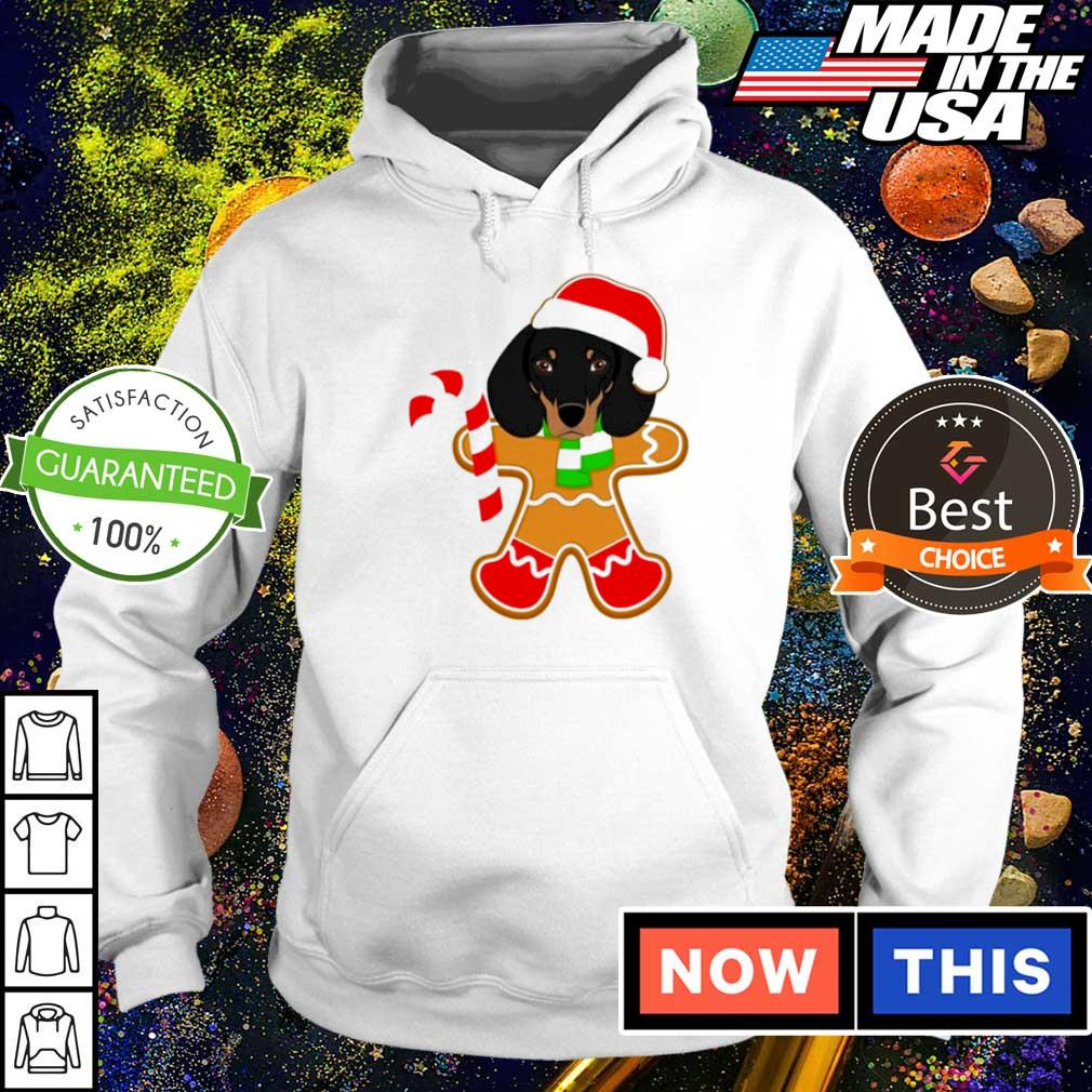Dachshund and gingerbread merry Christmas sweater hoodie
