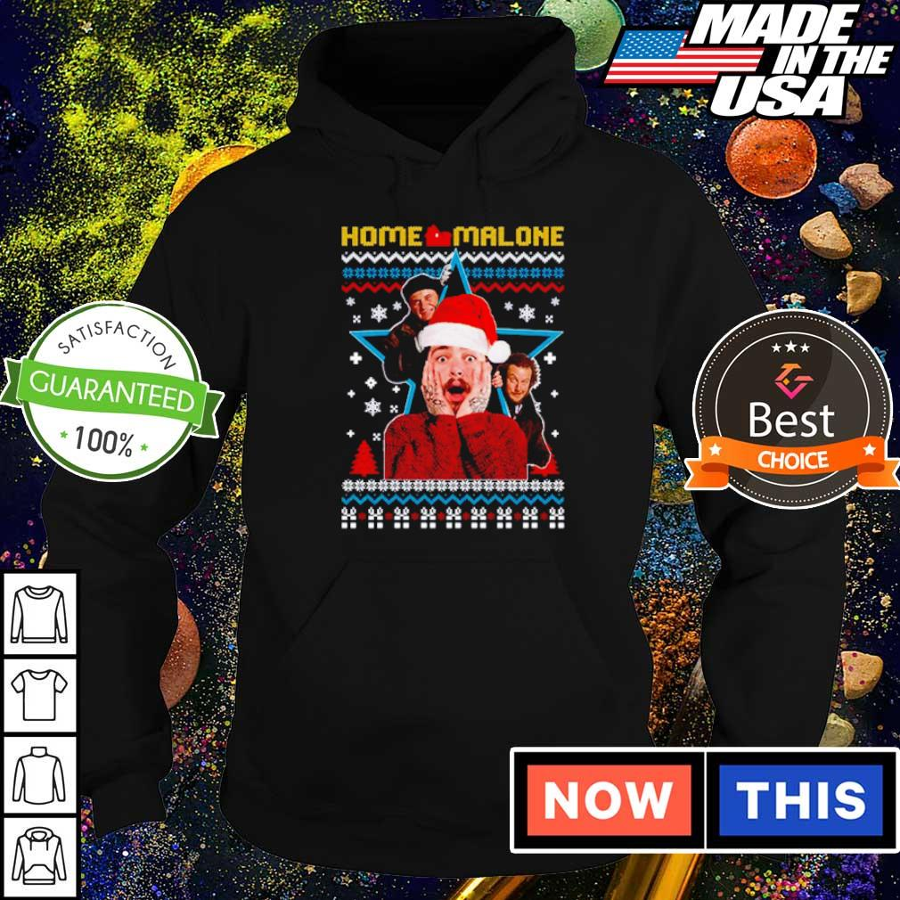 Funny Home Malone merry Christmas sweater hoodie