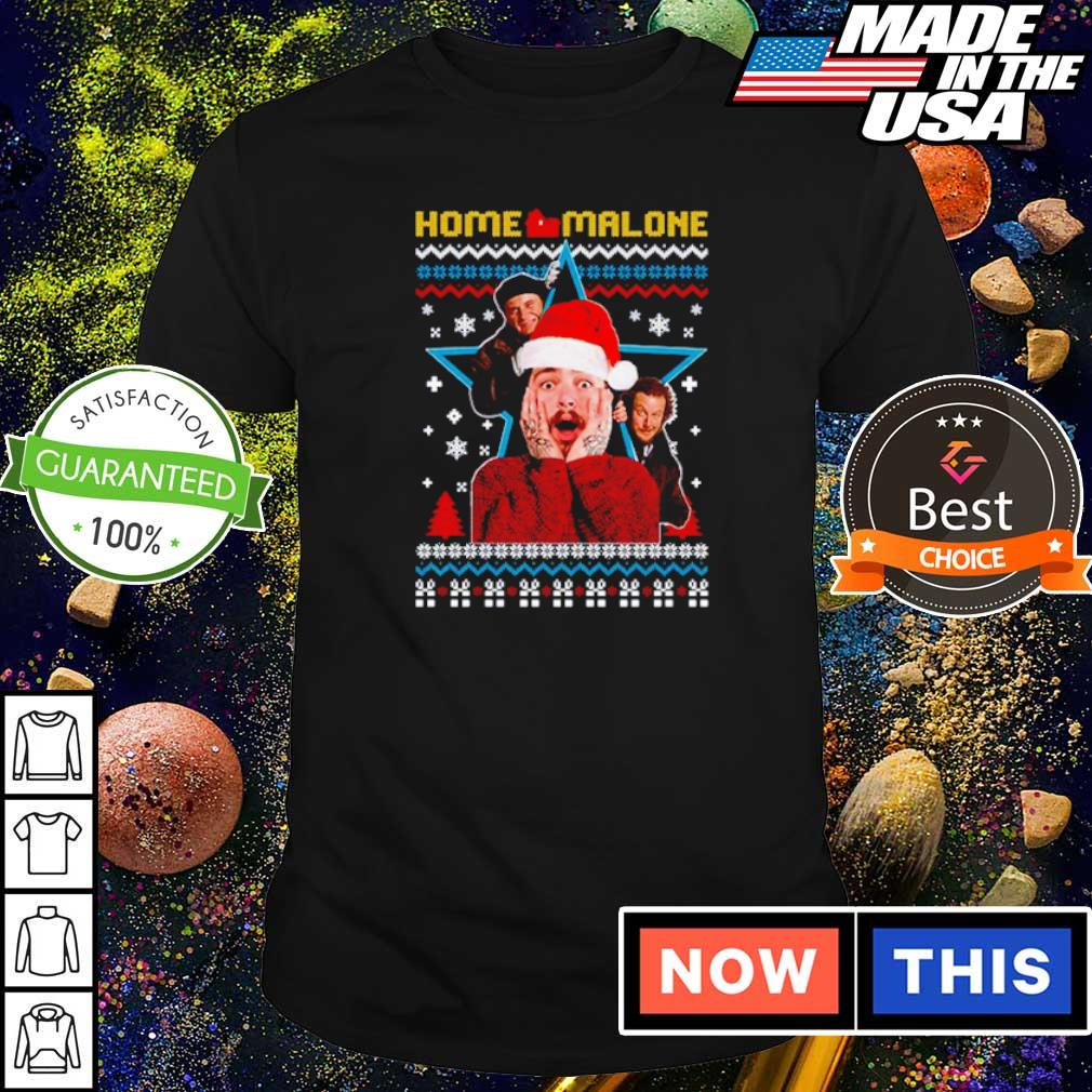Funny Home Malone merry Christmas sweater shirt