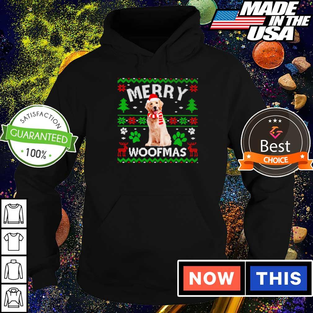 Golden Labrador merry Woofmas sweater hoodie
