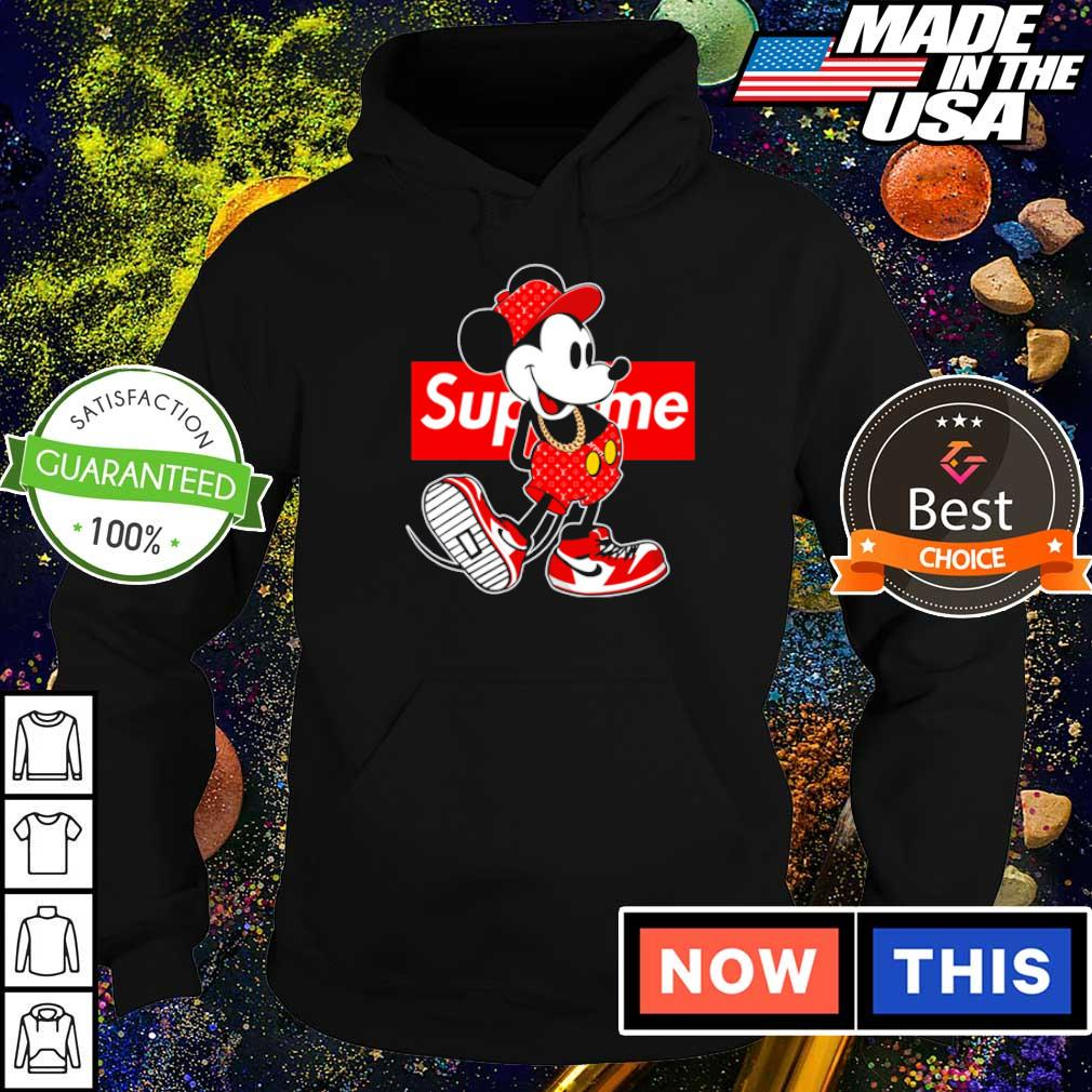 Mickey Mouse x Supreme s hoodie