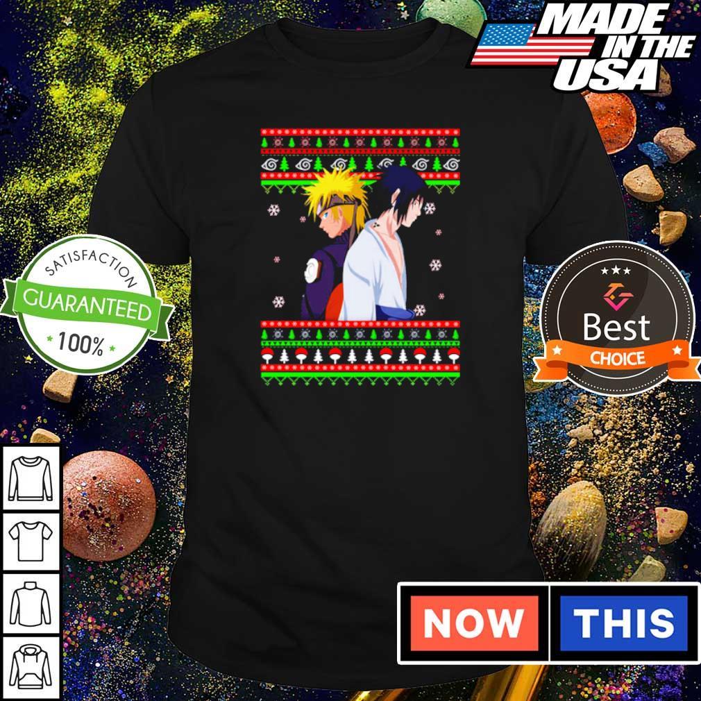 Naruto and Sasuke merry Christmas sweater shirt