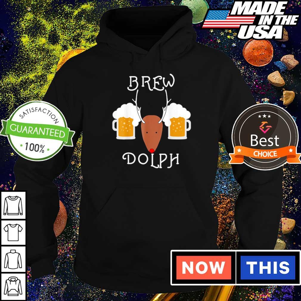 Reindeer brew dolph beer merry Christmas sweater hoodie