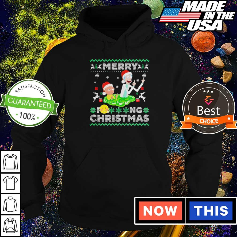 Rick and Morty merry fucking Christmas sweater hoodie