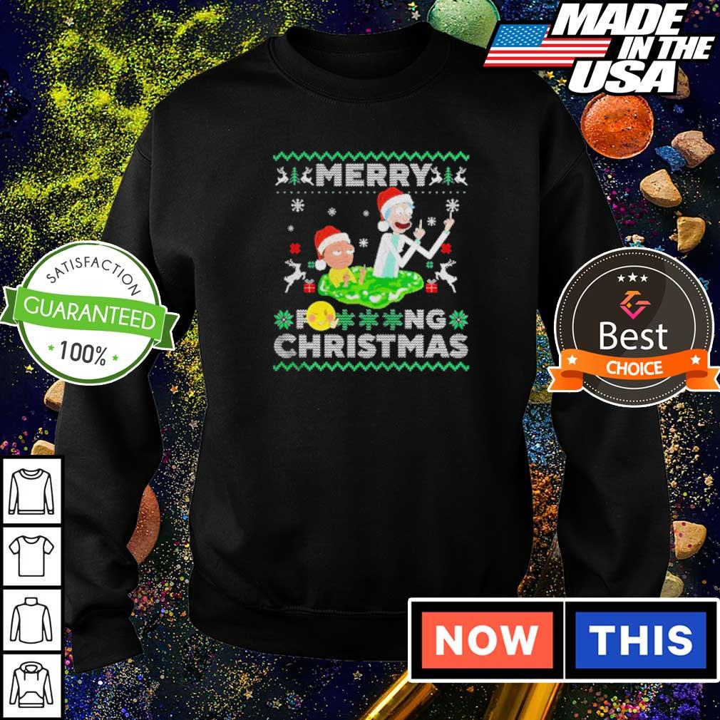 Rick and Morty merry fucking Christmas sweater