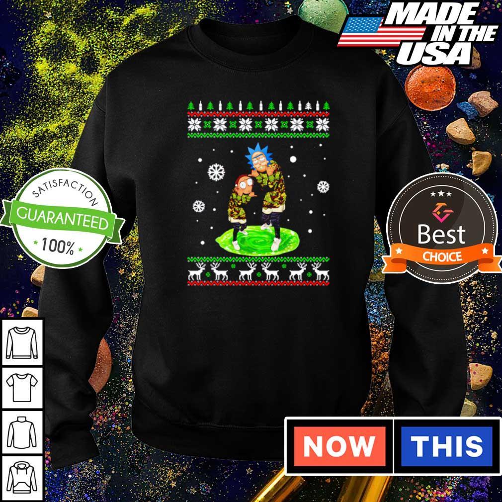 Rick and Morty Supreme merry Christmas sweater