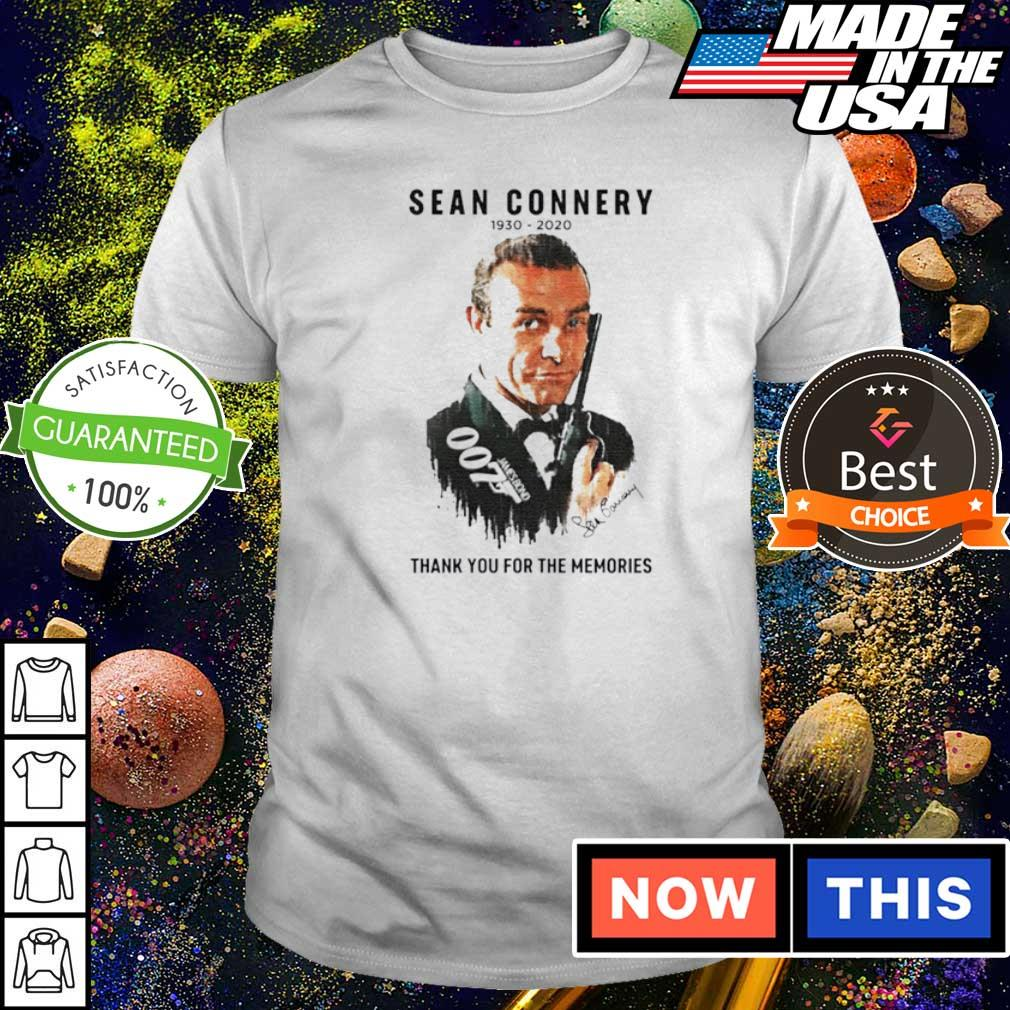RIP Sean Connery 1930 2020 thank you for the memories shirt