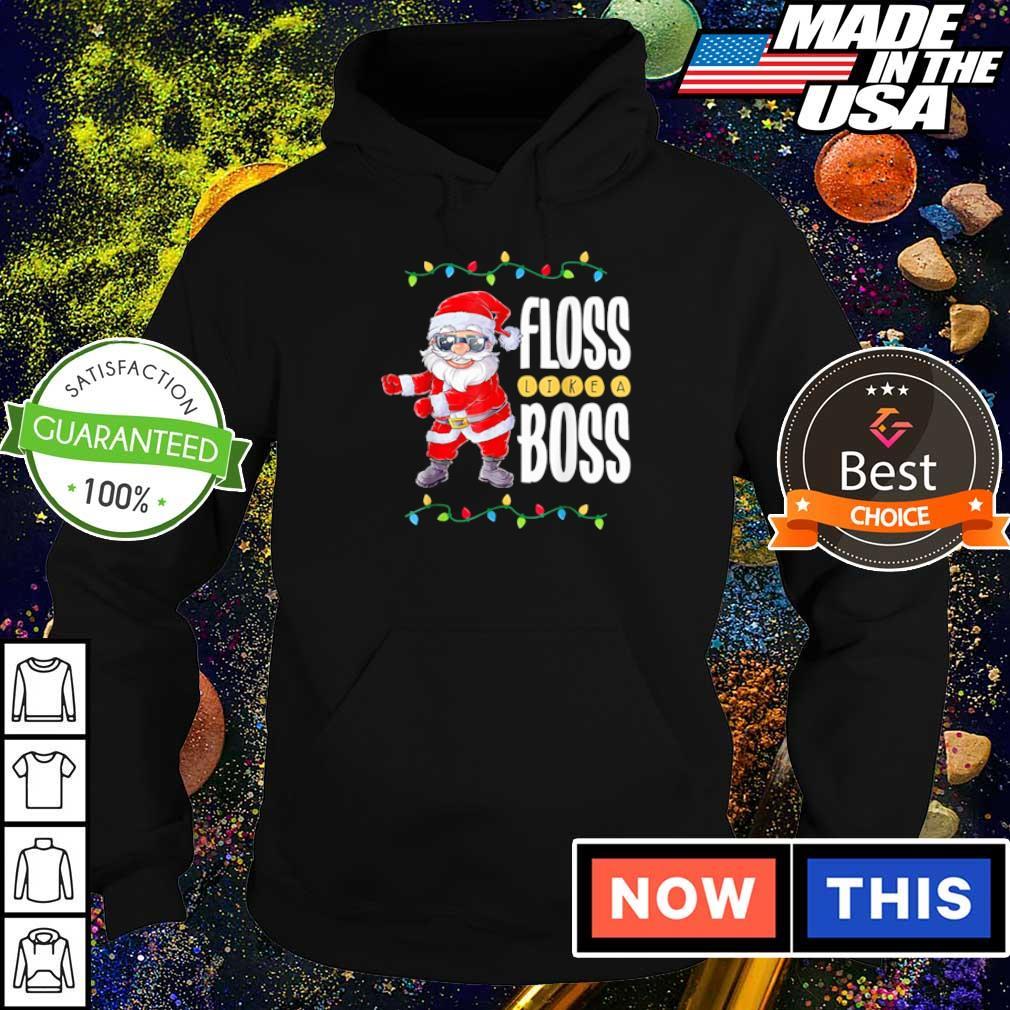 Santa Claus floss like a boss merry Christmas sweater hoodie