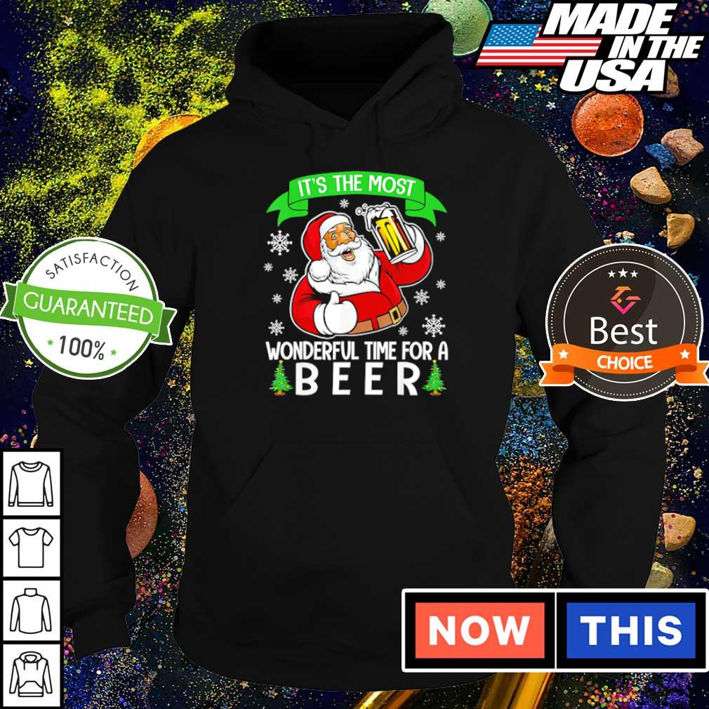 Santa Claus it's the most wonderful time for a beer Christmas sweater hoodie