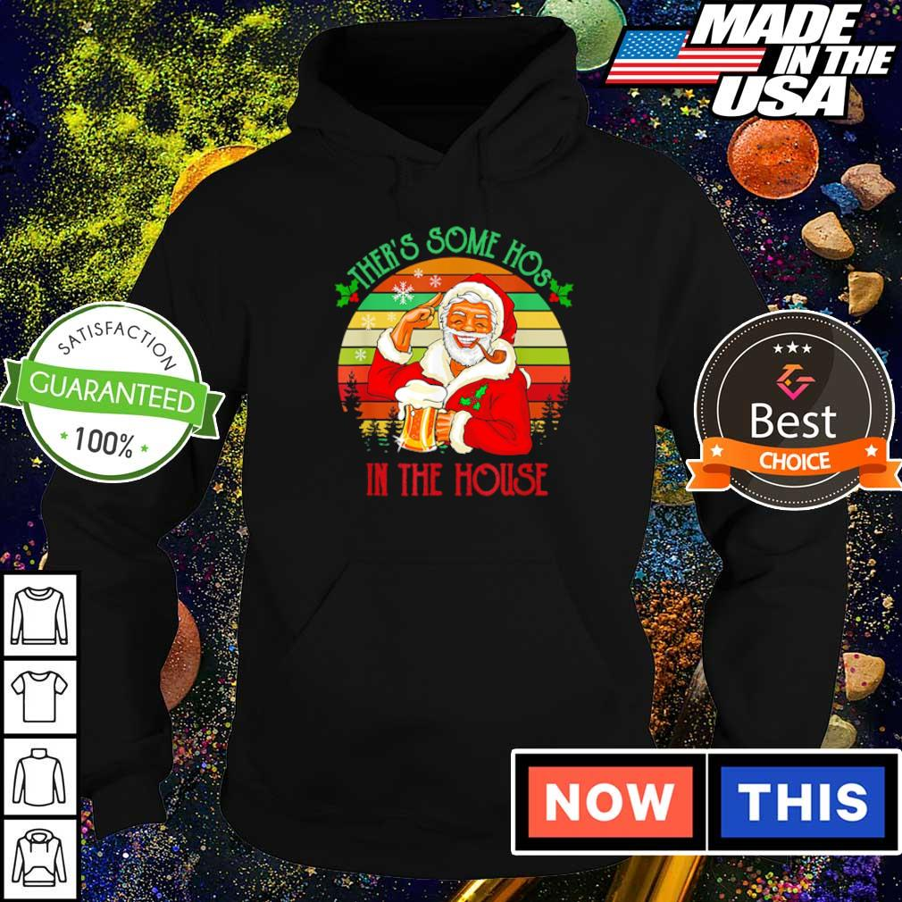 Santa Claus there's some hos in the house vintage Christmas sweater hoodie