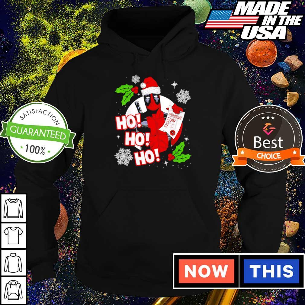 Santa Deadpool ho ho ho merry Christmas sweater hoodie