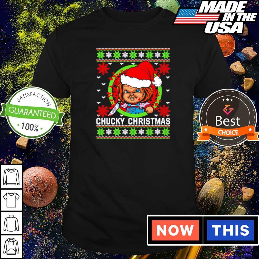 Scary Chucky merry Christmas sweater shirt
