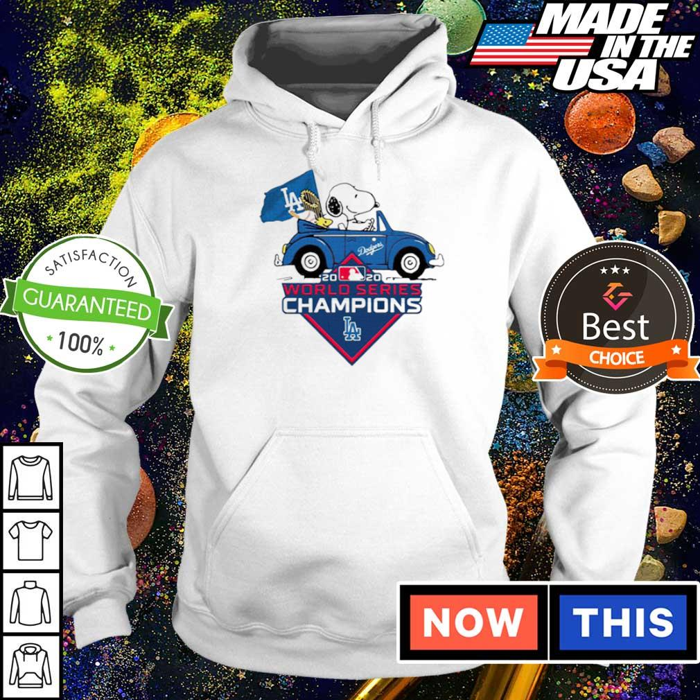 Snoopy and Woodstock Los Angeles Dodgers 2020 World Series Champions s hoodie