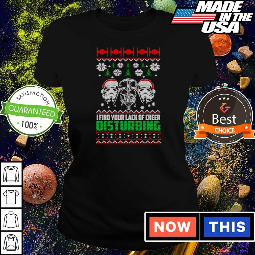 Star Wars I find your lack of cheer disturbing Christmas sweater ladies tee