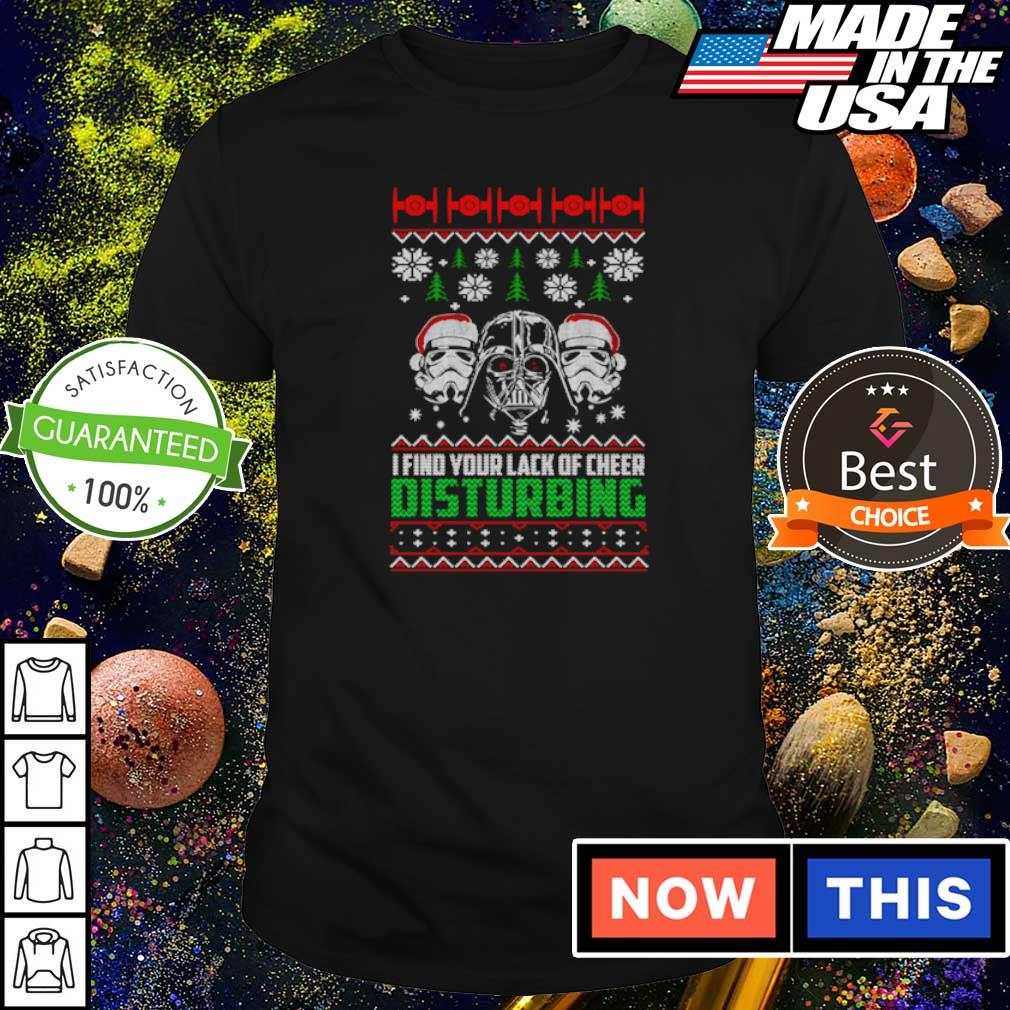 Star Wars I find your lack of cheer disturbing Christmas sweater shirt