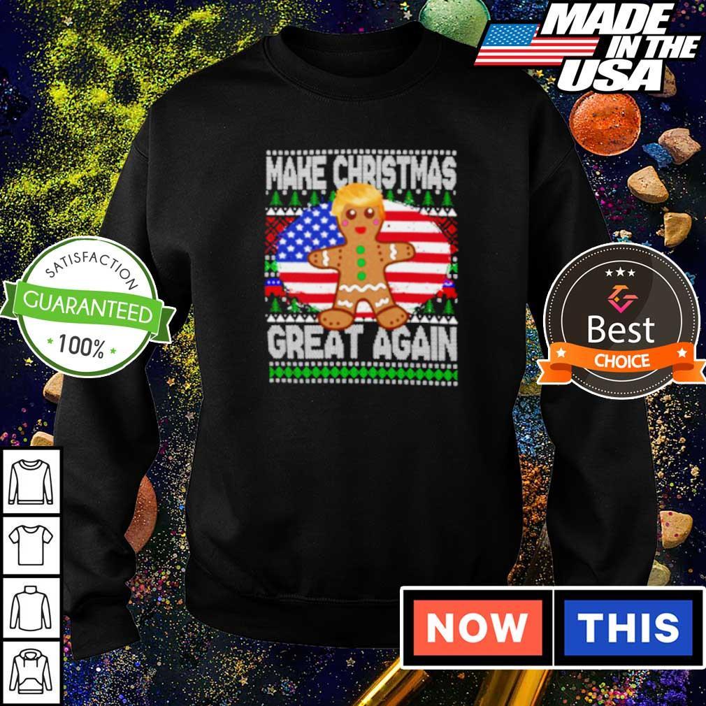 Trump gingerbread make Christmas great again sweater