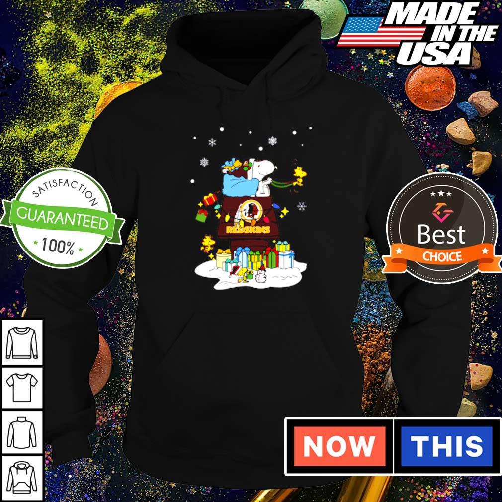 Washington Redskins Santa Snoopy merry Christmas sweater hoodie