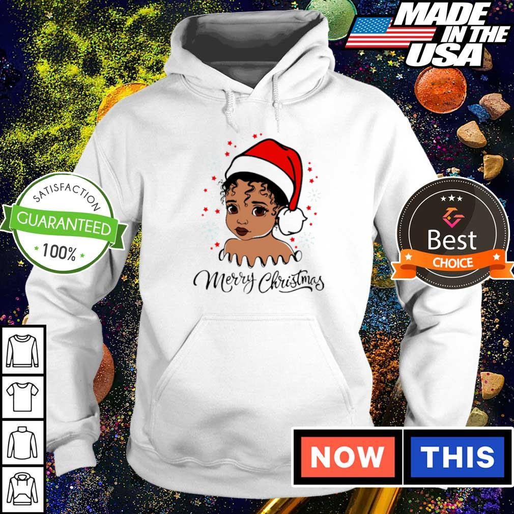 Baby black girl merry Christmas sweater hoodie