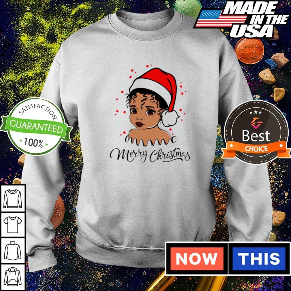 Baby black girl merry Christmas sweater