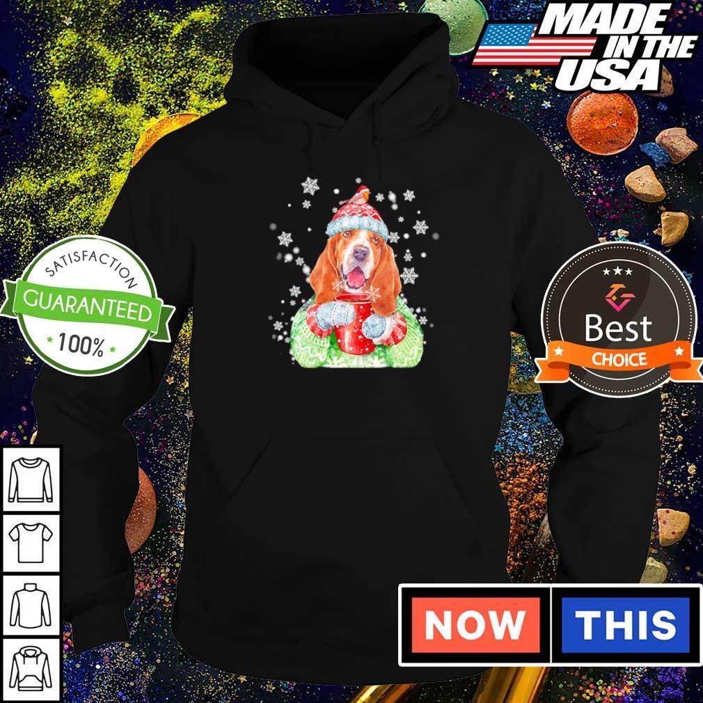 Basset hound warm winter merry Christmas sweater hoodie